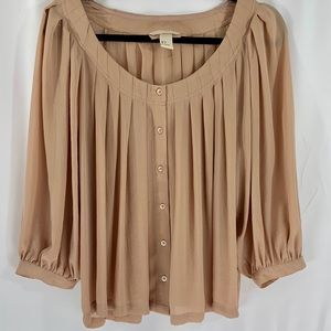 H&M Blush/ Nude colored  flowy blouse. Size 4.